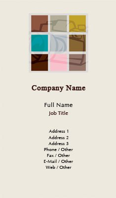 Camera Color Block Business Card Template